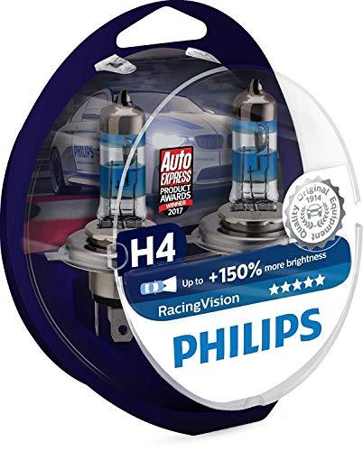 Philips RacingVision H4 Headlight Bulbs (Twin) 12342RVS2 Xtreme Vision Upgrade