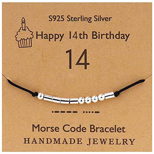 YooAi Morse Code Bracelet Happy Birthday Gifts for Girls Boys Sterling...