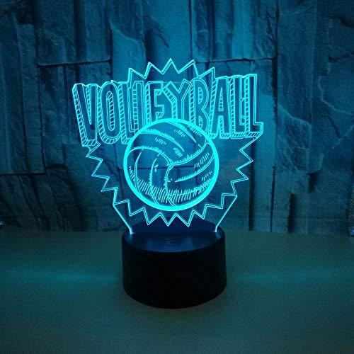 Volleyball 3d Lichter 7 Farben berühren LED kreative Nachtlichter sieben Farben dimmen 3d Lichter Neuheit USB LED Kinderlampen