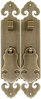 Manija de puerta vintage de estilo chino palanca de puerta duradera decorativa de latón antiguo ideal para armario de zap...