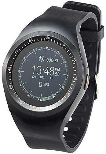 simvalley MOBILE Smartwatch mit SIM Slot: 2in1-Uhren-Handy & Smartwatch für Android, rundes Display, Bluetooth (Smartwatch mit Nano SIM)