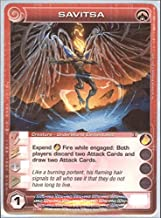 Chaotic SAVITSA Creature - Underworld Elementalist Secrets Lost City Deck Card # 25 (Random Stats)