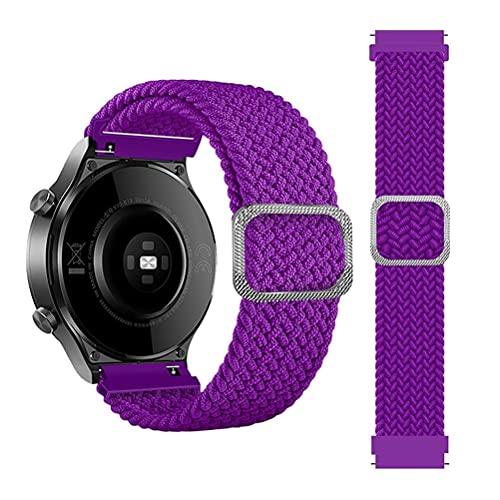 Correa 22 mm para Samsung Galaxy Watch 3 45mm/Galaxy Watch 46mm/Gear S3/for Amazfit GTR 47mm/Stratos Correa Deportiva Ajustable Nailon Elástico para Huawei Watch GT/GT2/GT2 Pro Solo Loop Trenzado