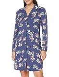 Schiesser Damen 1/1 Arm, 100cm Nachthemd, Mittelblau, 38