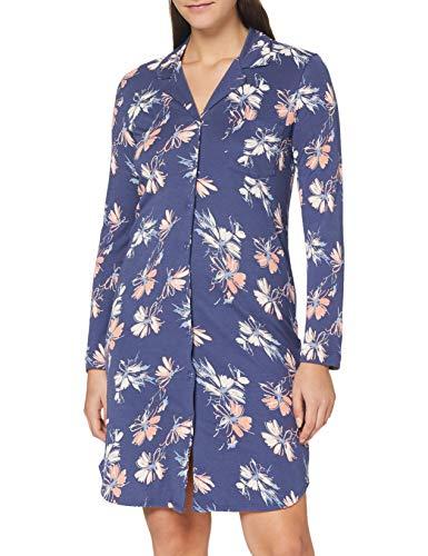 Schiesser Damen 1/1 Arm, 100cm Nachthemd, blau, 46