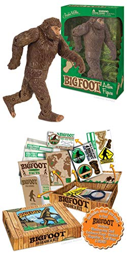 Bigfoot Action Figure and Research Kit (Bundle of 2 Items)
