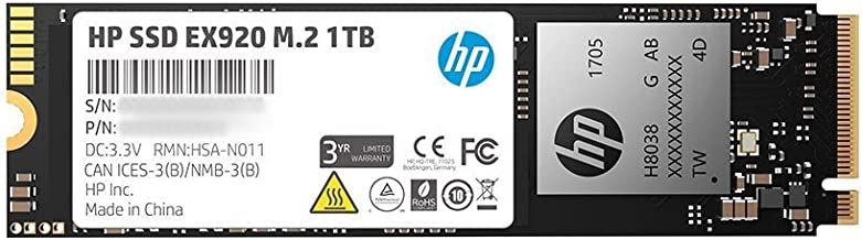 $112 Get HP EX920 M.2 1TB PCIe 3.1 X4 Nvme 3D TLC NAND Internal Solid State Drive (SSD) Max 3200 Mbps 2Yy47Aa#ABC