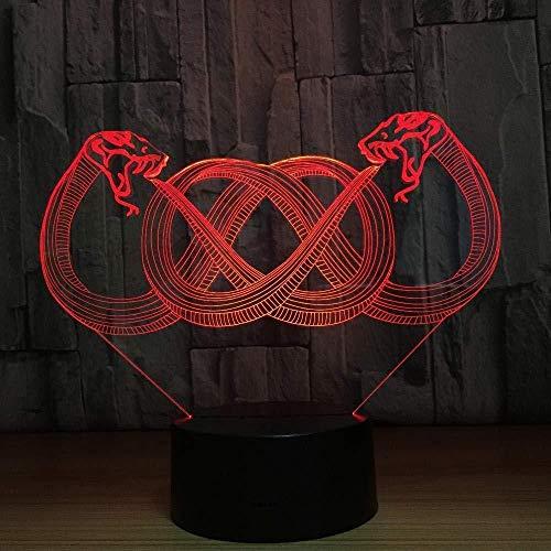 3D Slideshowcolor Dragon Moon goede nacht koptelefoon LED kleurverloop sfeerlicht acryl nachtlampje @ AB-A