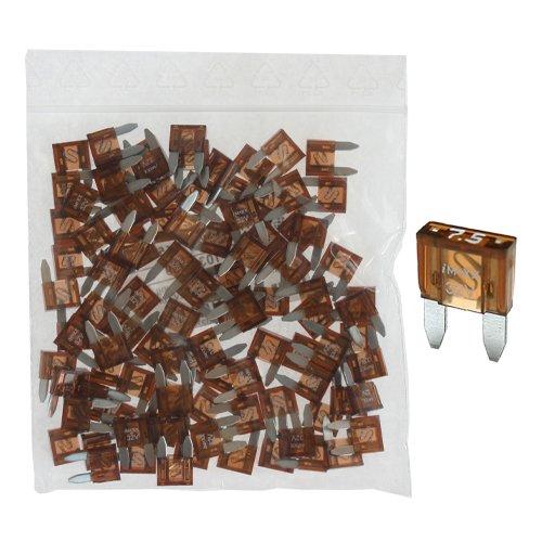 100 Flachstecksicherung Mini-Sicherung 7,5A / 32V / braun