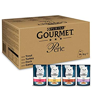PURINA GOURMET Perle Lot de 96 Paquets de Nourriture Humide pour Chat 96 x 85 g