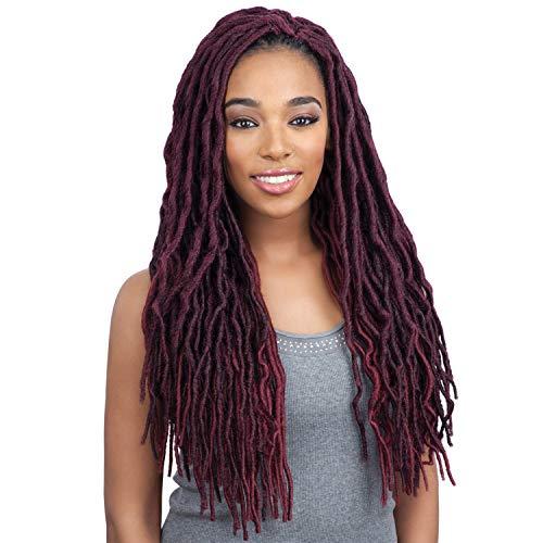 Model Model Synthetic Hair Crochet Braids Glance 2X Soft Medium Faux Loc Lite Wavy 18