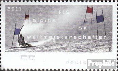 Prophila Collection BRD (BR.Deutschland) 2834 (kompl.Ausg.) 2010 Ski-WM 2011 (Briefmarken für Sammler) Wintersport