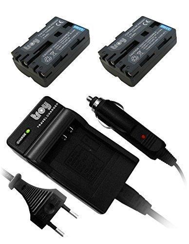 2x Troy-Batería + Cargador Sony SLT-A65, A57 Alpha 57, Alpha 65, Alpha...