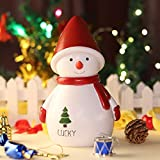 XKOEY Cartoon Santa Claus Model Piggy Bank Ornaments Snowman Deer Coin Money Box Resin Crafts Home Decoration Children