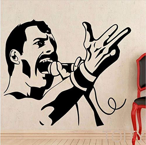Olivialulu Rock Star Wall Applique Rock Vocal Etiqueta de la pared Imagen de la celebridad Pegatinas de pared Aficionados a la música Pegatinas de pared Dy11 67 * 57 CM