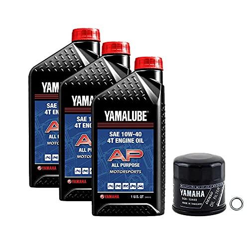 Yamalube Oil Change Kit 10W-40 for Yamaha 2019-2021 Yamaha Grizzly/Kodiak 700 ATV