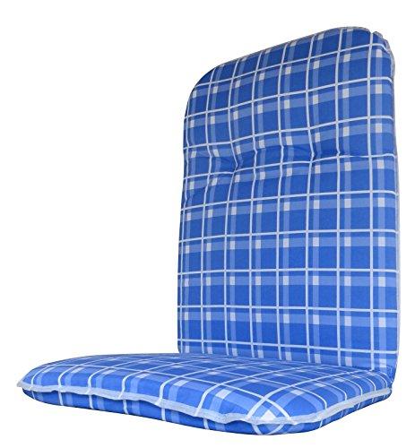 """Beo Hochlehner - Mittellehner Auflage 2\"""", blau kariert, 114x48x6 cm, HVI"""
