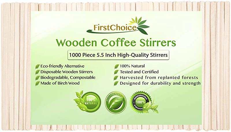 Disposable Wooden Coffee Stirrers 5 5 Inch Length Eco Friendly Biodegradable Compostable Wooden Coffee Stirrers By First Choice 1000 Stirrers