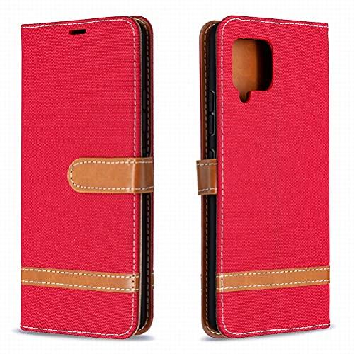 Yiizy Funda para Samsung Galaxy A42 5G, Carcasa Galaxy A42 5G Funda de Cuero con Tapa, Fundas para Tarjeteros de Crédito, Cierre Magnético Silicona Protector Estuche Samsung Galaxy A42 5G (Rojo)