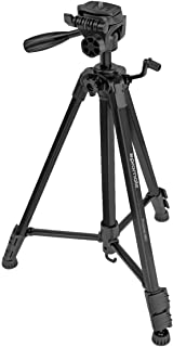 Promate Camera Tripod, Aluminum Alloy Camera Tripod 150cm with 3-Way Head, 3 Sections, 3KG Load Capacity with Gravity Hook...