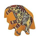 Mantel ovalado con diseño de mandala de elefante, diseño de caléndula con motivos florales de cachemira, mantel de poliéster, 156 x 200 cm, para eventos en interiores y exteriores, multicolor