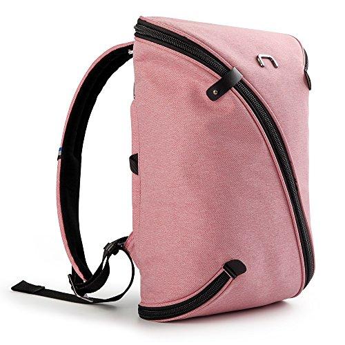 NIID-UNO II Business Slim Laptop Rucksack USB Charing Port Mehrzweck Daypack Schulter Rucksack für Frauen Männer Fit 13,3 Zoll Laptop, Rosa 20L Sport Rucksack