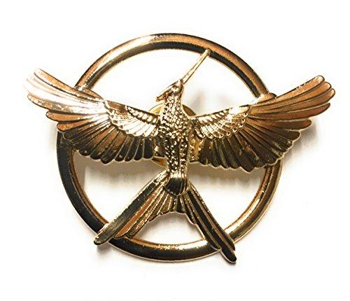 ChAmBer37Spilla Hunger Games La rivolta prima parte (Mockingjay) Badge simbolo–2Articoli, Bronzo e base metal, colore: oro