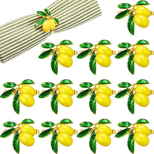 Lemon napkin rings