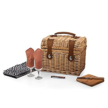 Picnic Time  Napa  Picnic Basket with Wine and Cheese Service for Two Adeline Collection