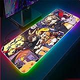 ZETIAN Große große Gaming Maus Pad rutschfeste Natürliche Gummi PC Computer Gamer Mauspad Verwaltung Matte Locking Rand für CS LOL Dota Mause Pad-Schönheit_250 x 350 x 4 mm