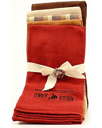 M F Western Products Cowboy Kitchen Tea Towel Set 5 pc