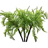 Aisamco 3 arbustos Artificiales de Plantas de Helecho de Boston, arbustos de vegetación Artificial en 19.7 Pulgadas de Alto para casa, Oficina, jardín, decoración de Interiores y Exteriores