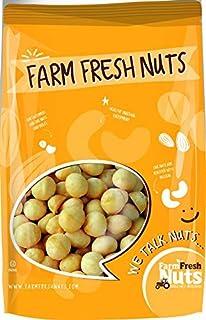 Farm Fresh Nuts Raw Macadamia Nuts Unsalted - Jumbo Natural Macadamias - Compares to Organic nice Quality - Super Crunchy (1 Lbs)