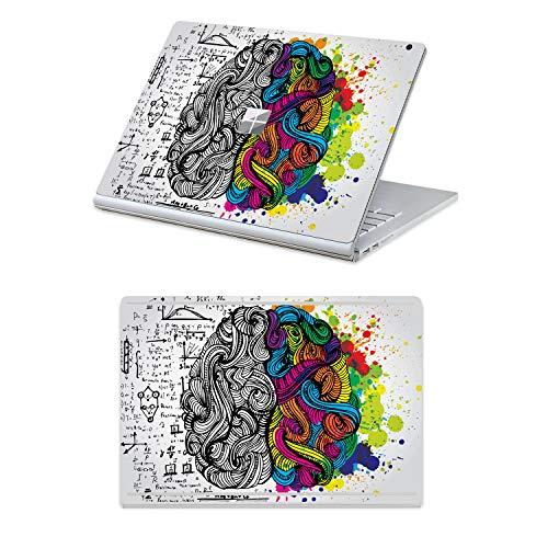 MasiBloom 2-in-1 Laptop-Sticker für 33 cm (13 Zoll) Microsoft Surface Book 2 (2017 veröffentlicht), 33,8 cm (13 Zoll) Schutzhülle Gehirn for 15