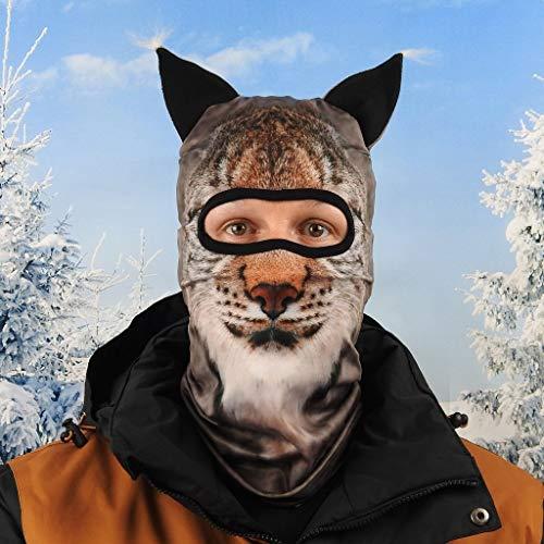 Beardo ® Original HD - Pasamontañas para esquí, protección contra el frío, protección Facial, pasamontañas (Lodo, Lynx)