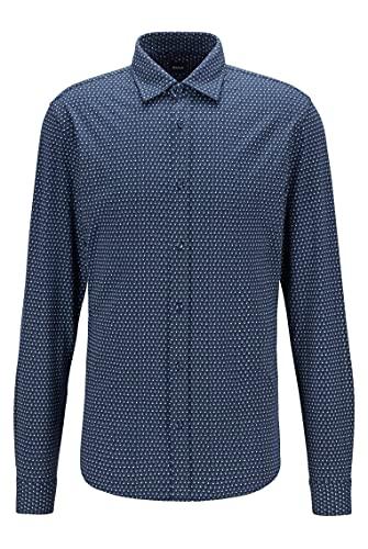 BOSS Mypop_3 10232586 01 Camisa, Dark Blue404, L para Hombre