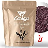CENALGA Organic Dulse Flakes - We avoid Plastic 1 lb / 453 g Poches (Family Pack) - Gulf of Maine Seaweed - GMO-Free - Fat-Free - Gluten-Free - Perfect for Paleo Diet or Keto Diet