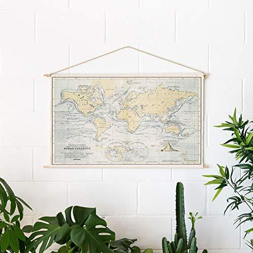 Miss Wood Woody Cotton Map - Oceans, Algodon, Azul, Talla Unica