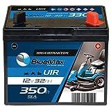 BlueMax U1R (Pluspol rechts) Garden Power Rasentraktor-Batterie 12V 32Ah 350A Starterbatterie für Aufsitzmäher wartungsfrei