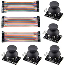 WMYCONGCONG 5 PCS Joystick Breakout Module Game Controller for Arduino PS2 + 120 PCS Multicolored Breadboard Jumper Wires Ribbon Cables Kit