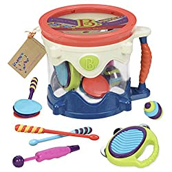 Toy Drum Set With 7 Percussion Instruments