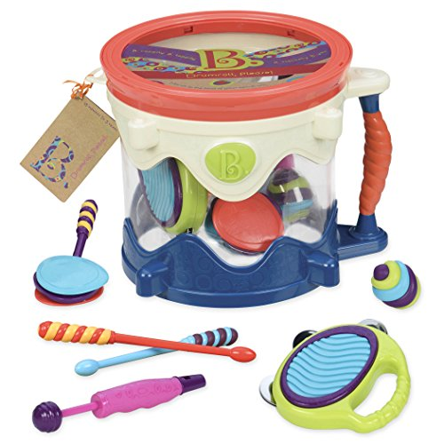 B. toys – Drumroll Please – 7 Musical Instruments Toy Drum Kit for...