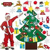 WELLXUNK® Fieltro Árbol de Navidad, Árbol Navidad Fieltro Pared, Árbol Navidad Fieltro Pared, Colgante de Pared Niños Adornos Extraíbles para Niños Decoraciones de Navidad(27 Piezas) (M1)