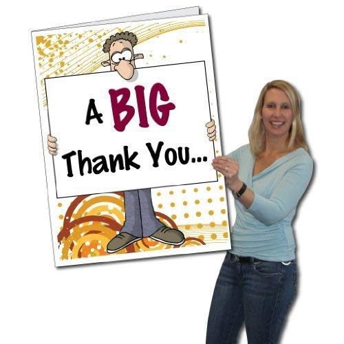 VictoryStore Jumbo Greeting Cards:  Giant Thank You Card (big nose)  2' x 3' Card with Envelope