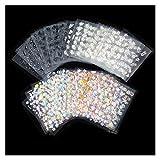 jsobh Pegatinas de uñas 50 Hojas de 3D del Arte del Clavo de la Etiqueta engomada del Clavo de la Flor de uñas Pegatinas uñas de manicura Wraps Foil Adhesivos (Color : 50sheets in Set)