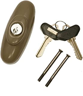 Andersen Tribeca Style Exterior Keyed Lock with Keys Right Hand in Stone