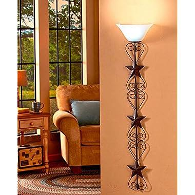 Country Star Wall Lamp Home Decor Western Rustic Metal Wall Art Remote Control --P#EWT43 65234R3FA380556