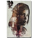 JNZART The Last of Us Pintura Impresa Poster de Pared Imprimir Zombie Survival Horror Acción TV Game Pictures 60x85cmx1