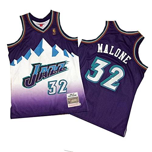 ZRBP # 32 Uniformes de Baloncesto de los Hombres de Jazz Malone, Uniformes de Equipo, Tops sin Mangas Deportivos, Impreso y Cosido Cartas y números Personalizados M