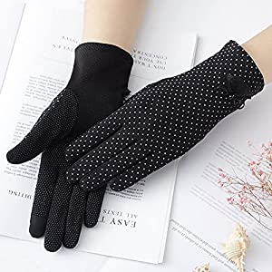 DEORBOB Fashionable Summer Women UV Sunscreen Short Sun Screen Pearl Flowers Mitts Dancing Party Lace Mittens Thin Ice Silk Lace Touch Screen Driving Gloves A Variety of Styles to Choose from